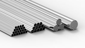 Metal tubes Royalty Free Stock Photos