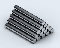 Metal tubes Royalty Free Stock Photography