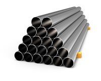 Metal tubes Royalty Free Stock Image