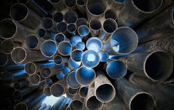Metal tubes abstract background Stock Images