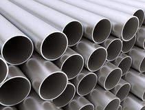 Metal tubes big stack close up Stock Images