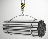 The metal tubes Royalty Free Stock Images