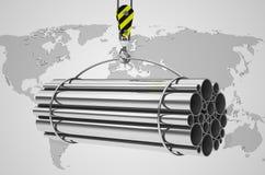 The metal tubes Stock Image