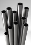 Metal tubes. 3D render of Metal(steel or aluminum) tubes Royalty Free Stock Photography