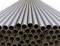 Metal tubes isolated Stock Image