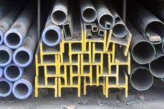 Metal tubka i promień Obrazy Stock