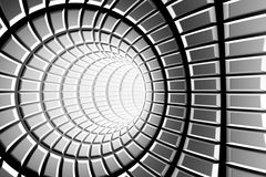 Metal tunnel. Abstract or background stock illustration