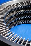 Metal turbine engine ring assembly stock image