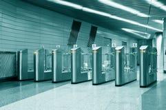 Metal turnstiles Royalty Free Stock Photography