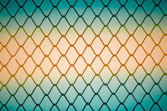 Metal twist fence Royalty Free Stock Image