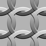 Metal twisted rings pattern Stock Photo