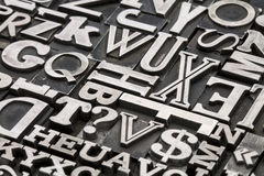 Metal type abstract Royalty Free Stock Photos