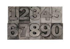 Metal type numbers 2 Royalty Free Stock Photos