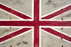 Metal United Kingdom flag. A United Kingdom flag painted on a metal texture Stock Photos