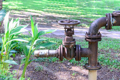 Metal valve of water pipe for pump system Royalty Free Stock Photography