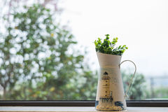 Metal vase Stock Image