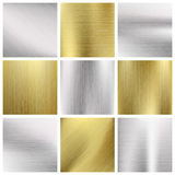 Metal vector textures set Stock Image