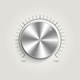 Metal vector volume music control Royalty Free Stock Photos