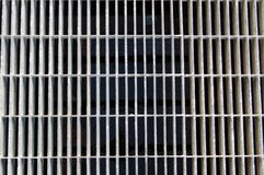Metal Vent. Metal Grate with black showing through Stock Photos