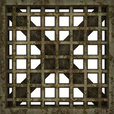 The metal vent grille. Royalty Free Stock Images