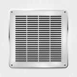 Metal ventilation grille on the wall. Vector illustration Stock Image