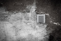 Metal ventilation window on wall Stock Image