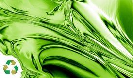 Metal verde que recicl o projeto Imagens de Stock Royalty Free