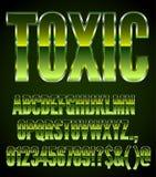 Metal verde tóxico Foto de Stock Royalty Free