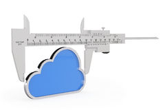 Metal vernier caliper with Cloud Icon Royalty Free Stock Image