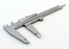 Metal vernier caliper isolated Royalty Free Stock Photography