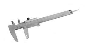 Metal vernier caliper. Royalty Free Stock Photo