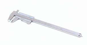 Metal vernier calliper on white background Royalty Free Stock Photos