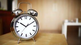 Metal vintage alarm clock counting stock video