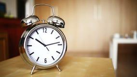 Metal vintage alarm clock counting stock video footage