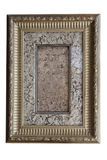Metal vintage classical thick frame isolate Stock Photo
