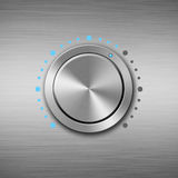 Metal volume button Stock Photography