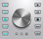 Metal volume button and setting volume buttons Royalty Free Stock Photography