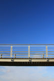 Metal walkway Stock Images