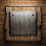Metal on wall Royalty Free Stock Photos