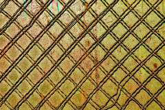 Metal wall background with wire rows Stock Photo