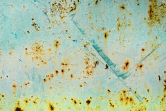 Metal wall with cracked colourful paint for grunge background Royalty Free Stock Photo