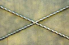 Metal wall. New goldie metal wall background Stock Photography