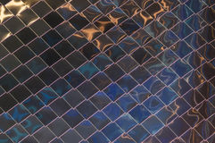 Metal wall rhombus Royalty Free Stock Photography