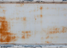 Metal wall with rust and border for background Stock Photos