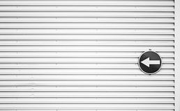 Metal wall sign Royalty Free Stock Images