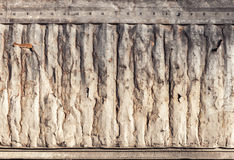 Metal wall texture, old industrial cargo container side Stock Photos