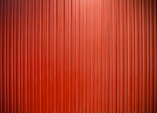 Metal wall vertical line texture Red color Stock Photo