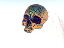 Metal War Skull. A conceptual image of a metal skull showing the horrors of murder and death,it could be a good image for Halloween Royalty Free Stock Photo
