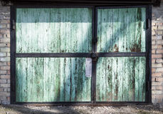 Metal warehouse door, hangar Stock Images