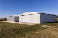 Metal Warehouse hangars Buildings Stock Images